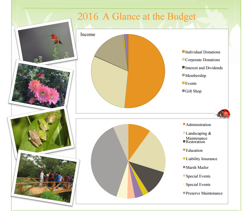 FOMM budget pie charts for 2016