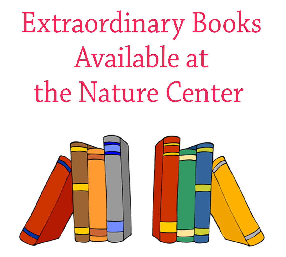 Books Available at FOMM's Nature Center