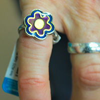 flower pinky ring