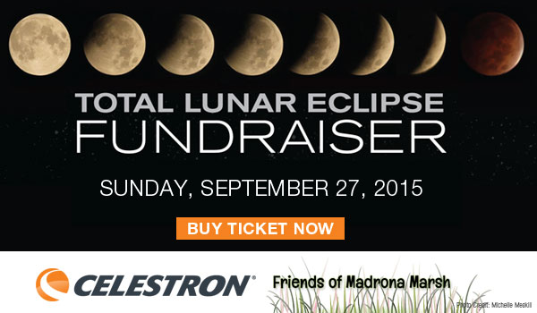 Buy tickets for Sept 27 Lunar Eclipse Fundraiser for Madrona Marsh